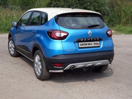 Renault Kaptur 2016- Защита задняя (уголки) 42,4 мм
